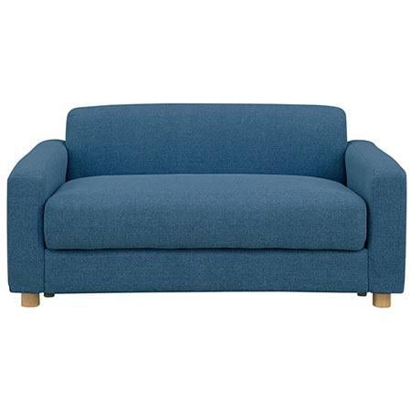 2人掛けソファ 幅126cm 布張 ヴァルゴ2 座面下収納付き 青緑