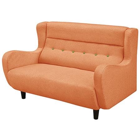 2人掛けソファ 幅118cm 布張 ブリッツ オレンジ