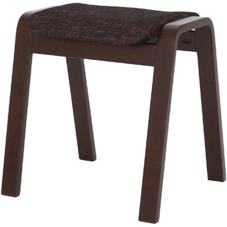 スタッキングスツール パセリ ブラック 4脚セット 布張り ファブリック 木製 完成品 スタッキングチェア スタックスツール おしゃれ 玄関 スタッキング 収納 スツール いす イス 椅子 40-545