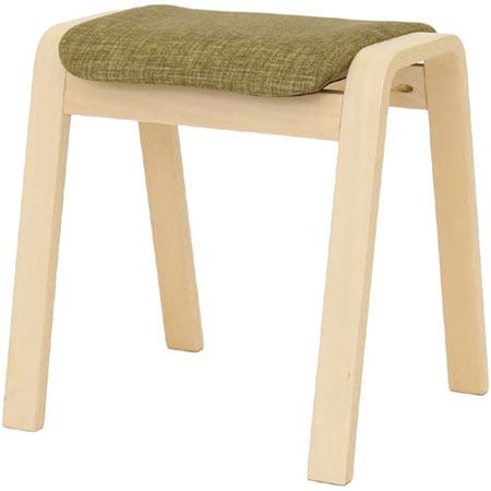 スタッキングスツール パセリ グリーン 4脚セット 布張り ファブリック 木製 完成品 スタッキングチェア スタックスツール おしゃれ 玄関 スタッキング 収納 スツール いす イス 椅子 40-547