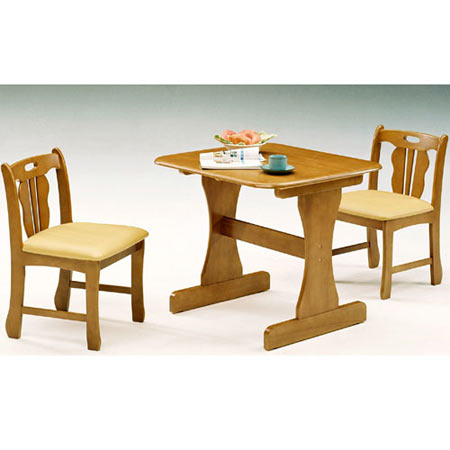 ダイニング3点セット メアリー 幅80cm テーブル+チェア×2脚 ミドルブラウン
