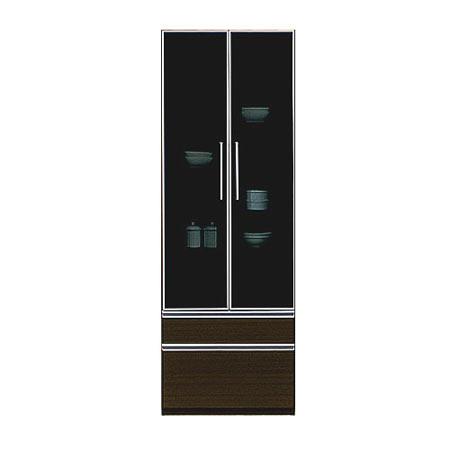食器棚 ダイニングボード リニアII 幅60cm 高さ180cm ブラウン