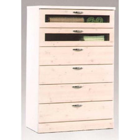 木製チェスト Vanilla 幅80cm 高さ120cm ホワイト