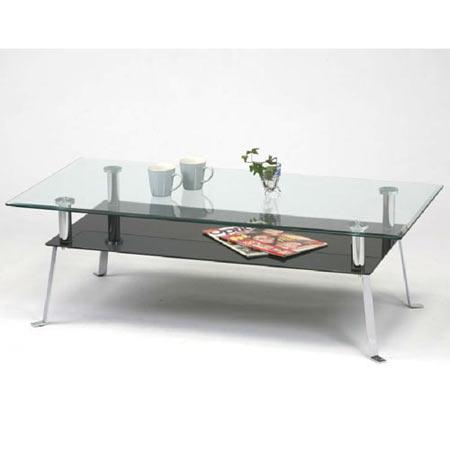 ガラスリビングテーブル 幅120 高さ38 ブラック リビングテーブル ガラステーブル ガラスローテーブル ガラスセンターテーブル ローテーブル オシャレ テーブル 机 つくえ gto-120bk