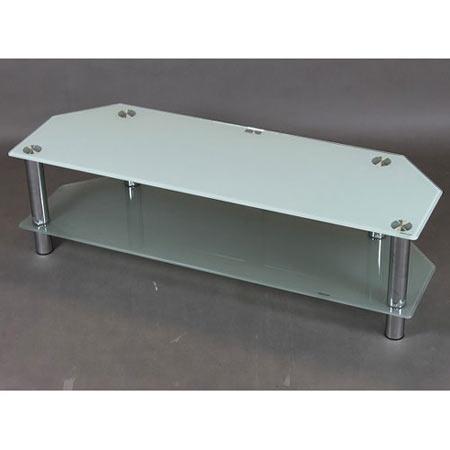 ガラス天板テレビ台 幅120 ホワイト 2段 120-2-wh