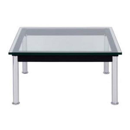 ガラスローテーブル ル・コルビジェ LC10 幅70 奥行き70 高さ34 合皮 レザー リビングテーブル カフェテーブル ガラステーブル ガラスローテーブル 応接テーブル おしゃれ ミッドセンチュリー デザイナーズ 家具 リプロダクト リビング コルビュジエ テーブル 机 40101133