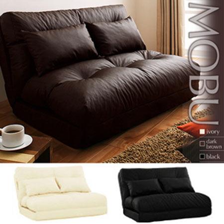 フロアソファベッド Mobu モブ 1.5人掛け 合成皮革 日本製 ソファーベッド ソファーベット リクライニングソファーベッド リクライニングソファーベット 座椅子ソファ リクライニング 兼用 おしゃれ ソファ ソファー 椅子 40102953