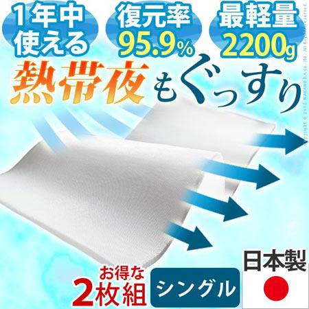 新構造エアーマットレス エアレスト365ライト 95×200 2枚セット i-4900001