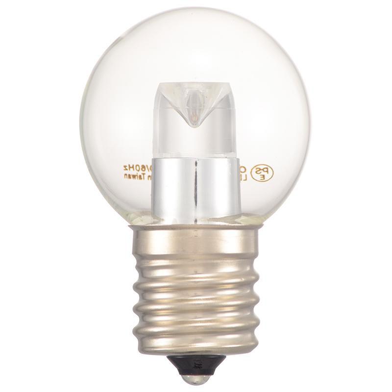 大好評です COCO-LIFEは その時 その時に生活の喜びを感じていただける 誰かに伝えたくなる 人気の定番 商品をより多くのお客様へお届けいたします 代引き 同梱不可 OHM E17 LDG1L-H-E17 クリア電球色 14C 52lm LEDミニボール球装飾用 1.2W G30