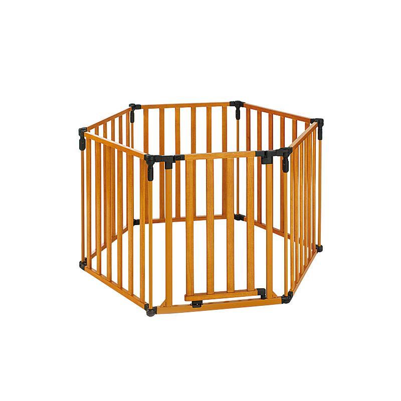 【代引き·同梱不可】 スーパーヤード セーフティーフェンス ウッド NS4940 火傷対策 子供 ゲート 乳児 室内 柵 ベビー 赤ちゃん