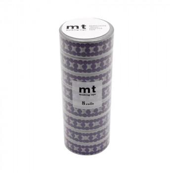 COCO-LIFEは その時 その時に生活の喜びを感じていただける 誰かに伝えたくなる 希望者のみラッピング無料 10%OFF 商品をより多くのお客様へお届けいたします 代引き 同梱不可 mt 15mm×7m MT08D449 ブルー マスキングテープ 単色8巻入りパック DECO ラダードット