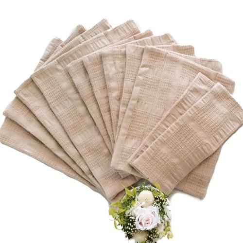 華布(hanafu)のオーガニックコットンの布ナプキン【はじめてセット】【Sサイズ(ロング):約9×約23cm(2枚)、Mサイズ:約18×約24cm(5枚)、Lサイズ:約23×約28cm(4枚)】