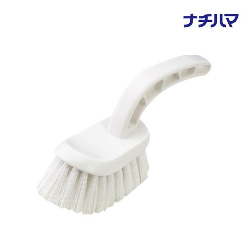 面倒なお風呂掃除も水だけでらくらく!洗剤剤要らずのバスブラシ!毎日きれいなお風呂! バスブラシ アイボリー ナチハマ 洗剤のいらないお風呂ブラシ 風呂掃除 浴槽掃除 洗剤不要 日本製