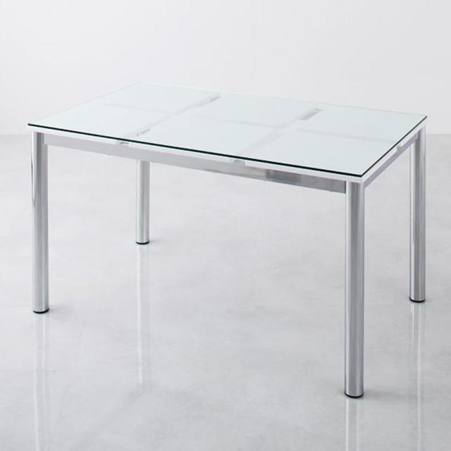 De modera テーブル150cm (ガラステーブル ダイニングテーブル 幅150cm 4人用 シンプル)