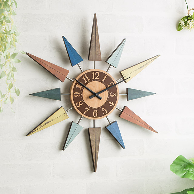 壁掛け時計 おしゃれ レストヴント L'est bunt CL-8408 直径43cm スイープムーブメント 掛け時計 おしゃれ かわいい 北欧 静音 新築祝い プレゼント ギフト 贈り物