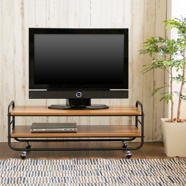 テレビ台 Muuth 105 (テレビボード テレビラック ローボード TV台 TVボード 収納家具 リビング収納 北欧 リビングボード テーブル 105cm ウォールナット ミッドセンチュリー シンプル モダン レトロ スチール 北欧 売れ筋 人気 ブラウン ムース)