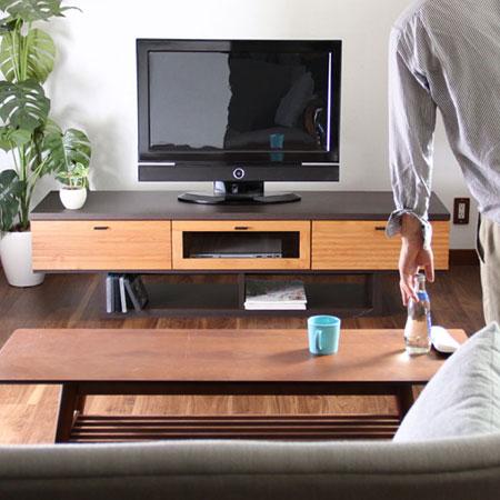 【エントリーでポイント10倍】エフイー 160TVボード(FE エフ・イー テレビ台 ローボード テレビボード 引き出し付き シンプル木製 北欧インテリア ミッドセンチュリー)
