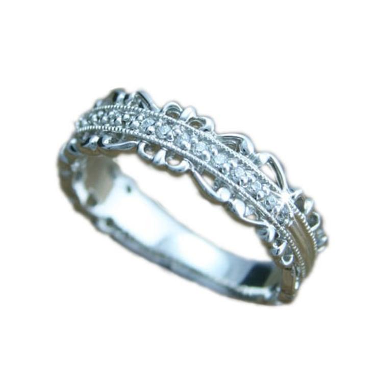 指輪 ホワイトゴールド リング K10 ホワイトゴールド ピンクゴールド 天然 ダイヤモンド リング 日本製【NEWショップ】【送料無料】 【指輪】【リング】【ダイヤモンド】