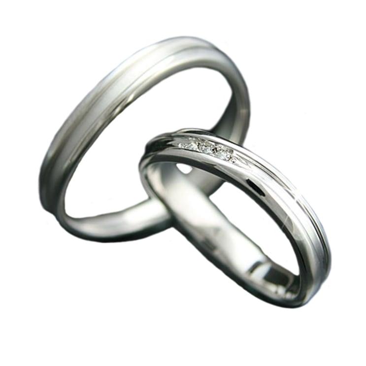 ペアリング k18 イエローゴールド ホワイトゴールド ピンクゴールド ダイヤモンド 2本セット 品質保証書 金属アレルギー 日本製 誕生日 ギフト お歳暮 送别会 売れ行きがよい