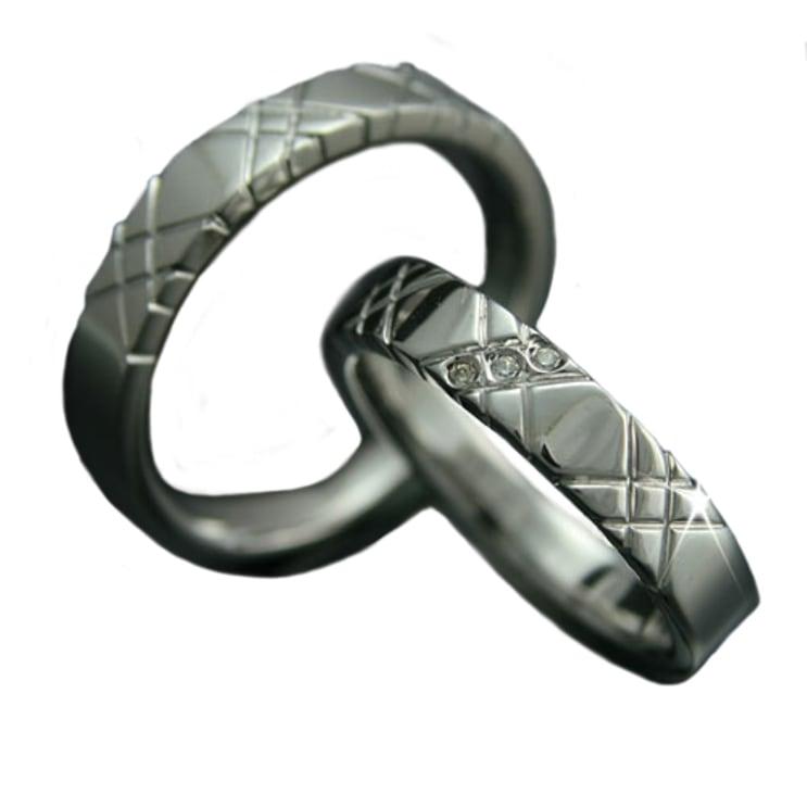 マリッジリング 2本セット K10 ホワイトゴールド 結婚指輪 天然 ダイヤモンド 日本製【NEWショップ】【送料無料】 【ペアリング】【ホワイトゴールド】