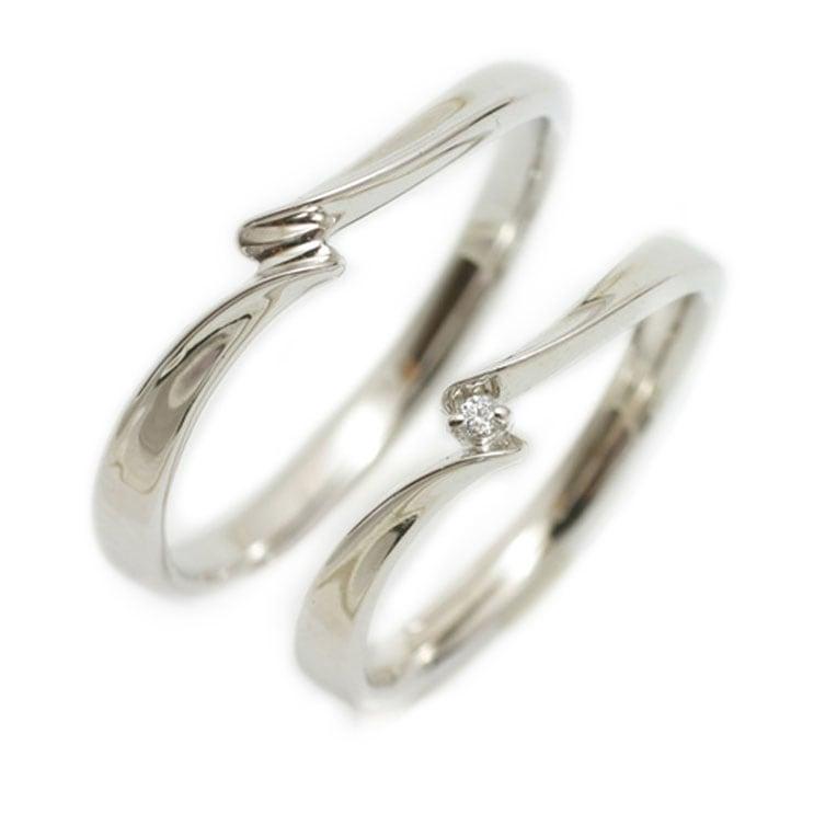 ペアリング 2本セット K10 ホワイトゴールド マリッジリング 結婚指輪 天然 ダイヤモンド 日本製【NEWショップ】【送料無料】 【ペアリング】【ホワイトゴールド】