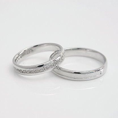 ペアリング セット シルバー925 ダイヤモンド 2本セット 品質保証書 金属アレルギー 日本製 誕生日 ギフト