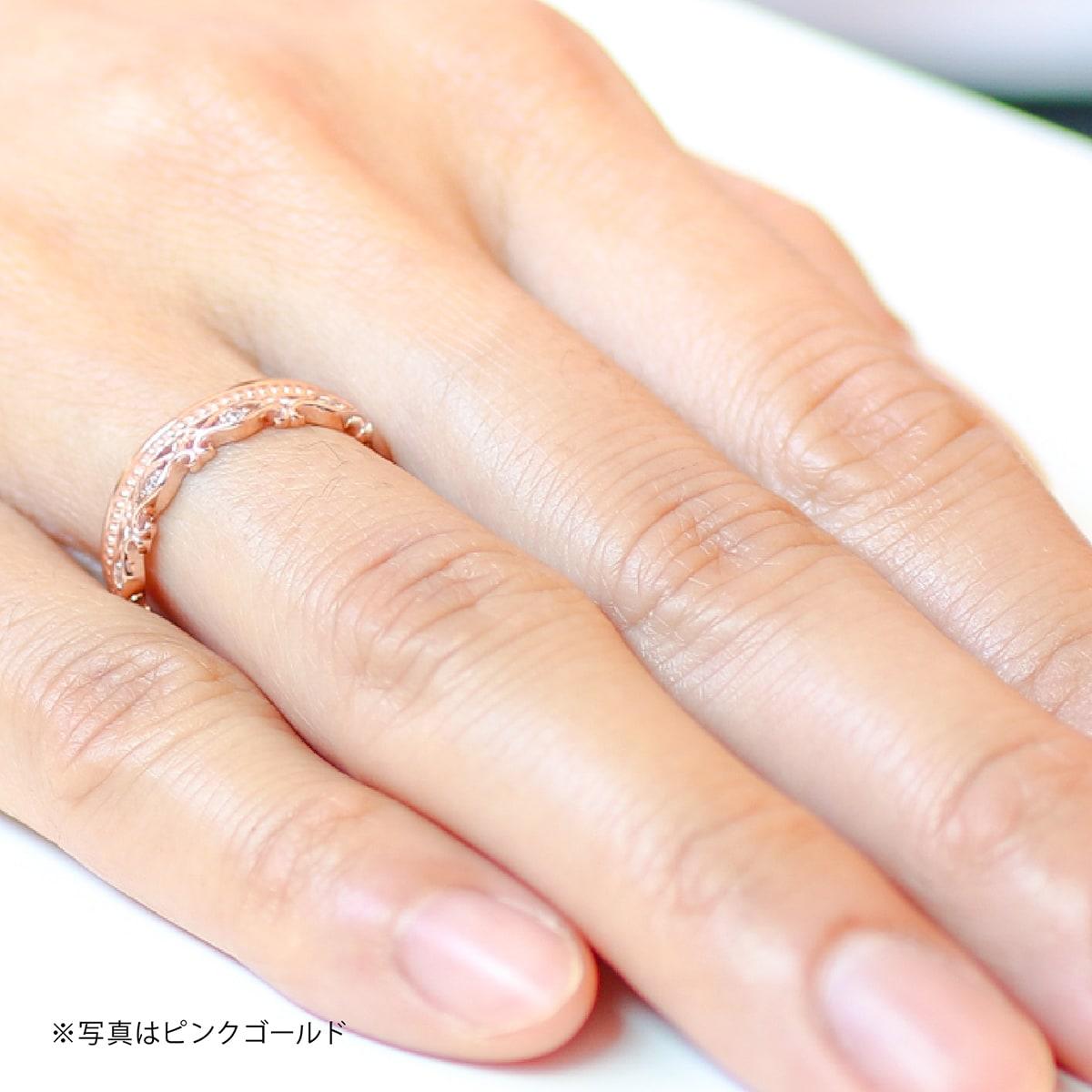 ダイヤモンド リング k18 イエローゴールド ホワイトゴールド ピンクゴールド ファッションリング 品質保証書 金属アレルギー 日本製 誕生日 ギフトBoxedrC