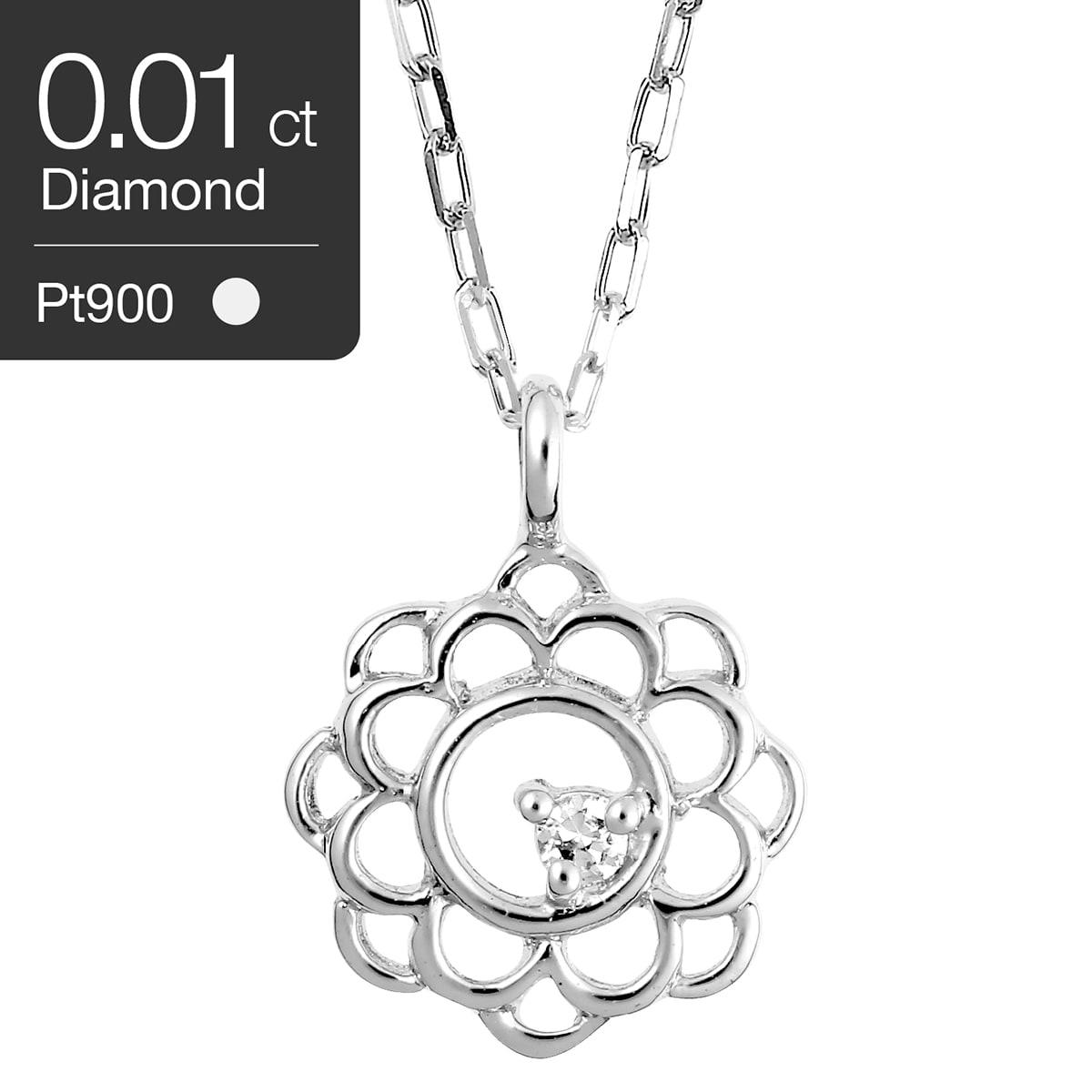 ダイヤモンド ネックレス プラチナ900 一粒 品質保証書 金属アレルギー 日本製 誕生日 ギフト