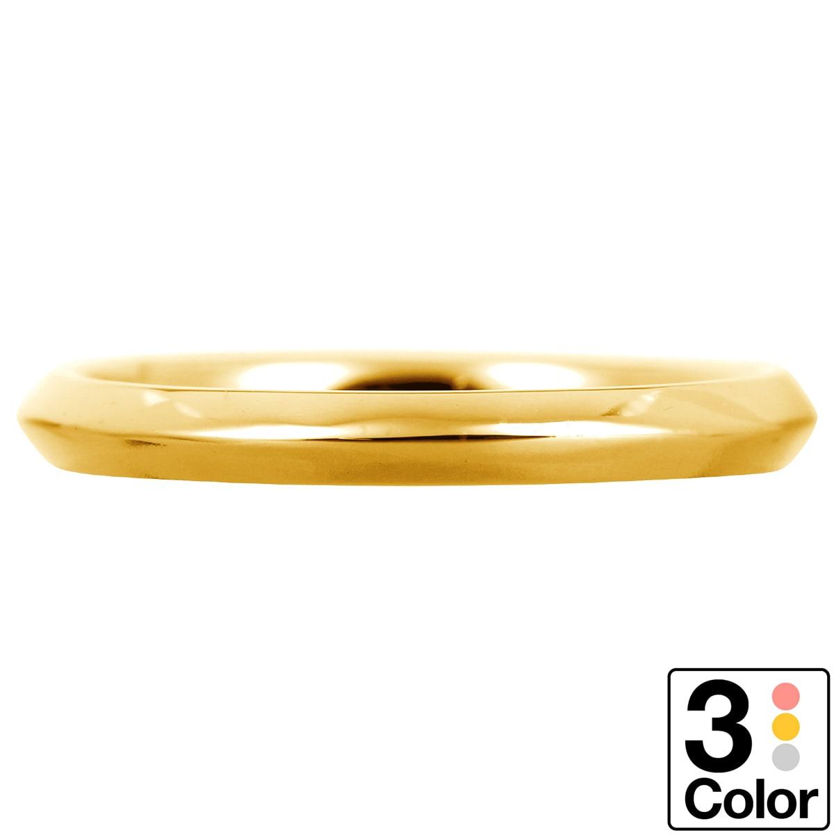 地金 リング k18 イエローゴールド ホワイトゴールド ピンクゴールド ファッションリング 品質保証書 金属アレルギー 日本製 誕生日 ギフトrxoeBWdC