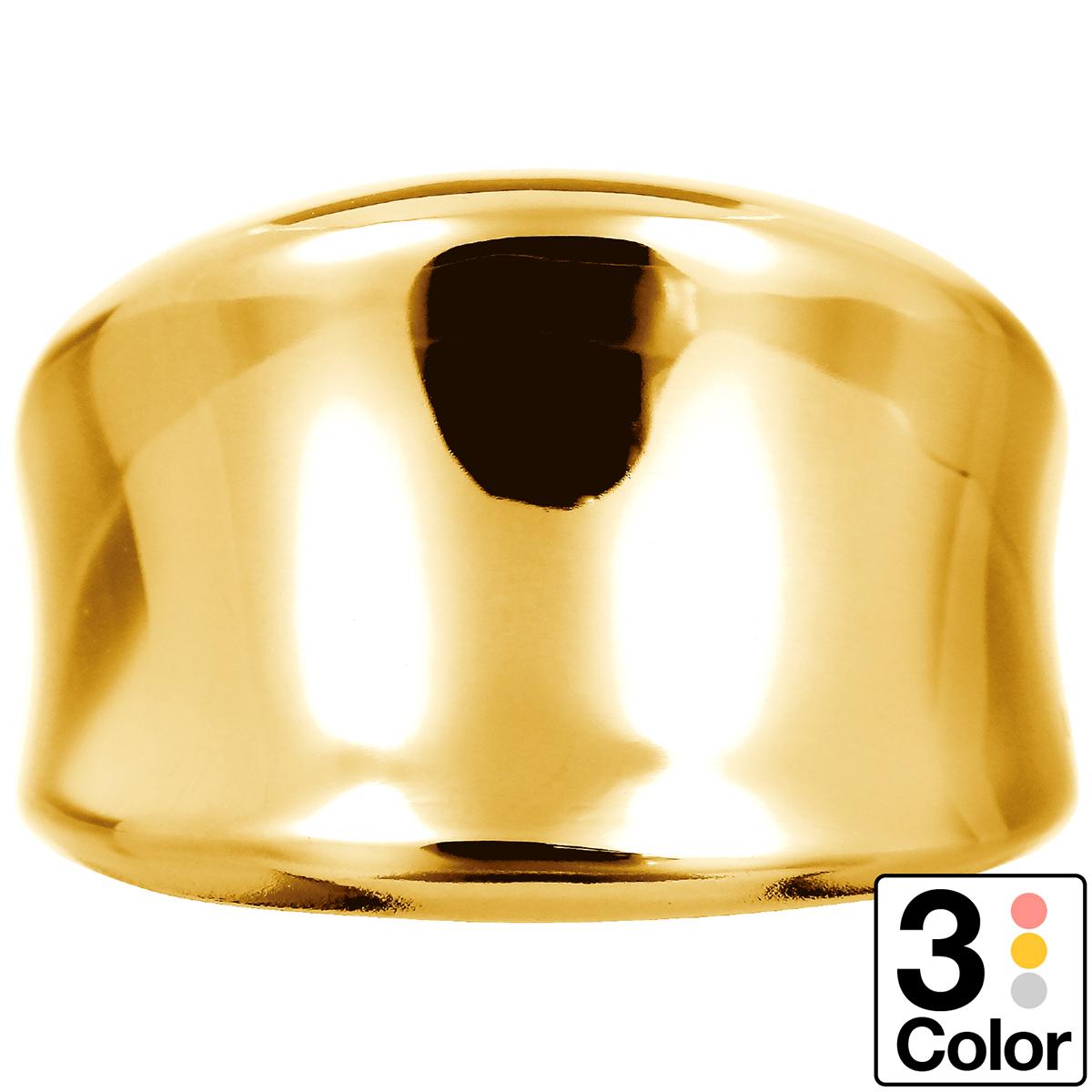 地金 リング k18 イエローゴールド/ホワイトゴールド/ピンクゴールド ファッションリング 品質保証書 金属アレルギー 日本製 誕生日 ギフト