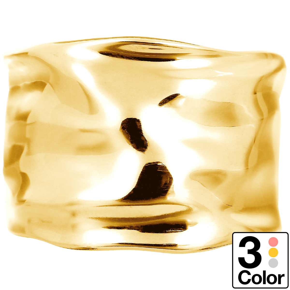 地金 リング フォークリング k18 イエローゴールド/ホワイトゴールド/ピンクゴールド ファッションリング 品質保証書 金属アレルギー 日本製 誕生日 ギフト