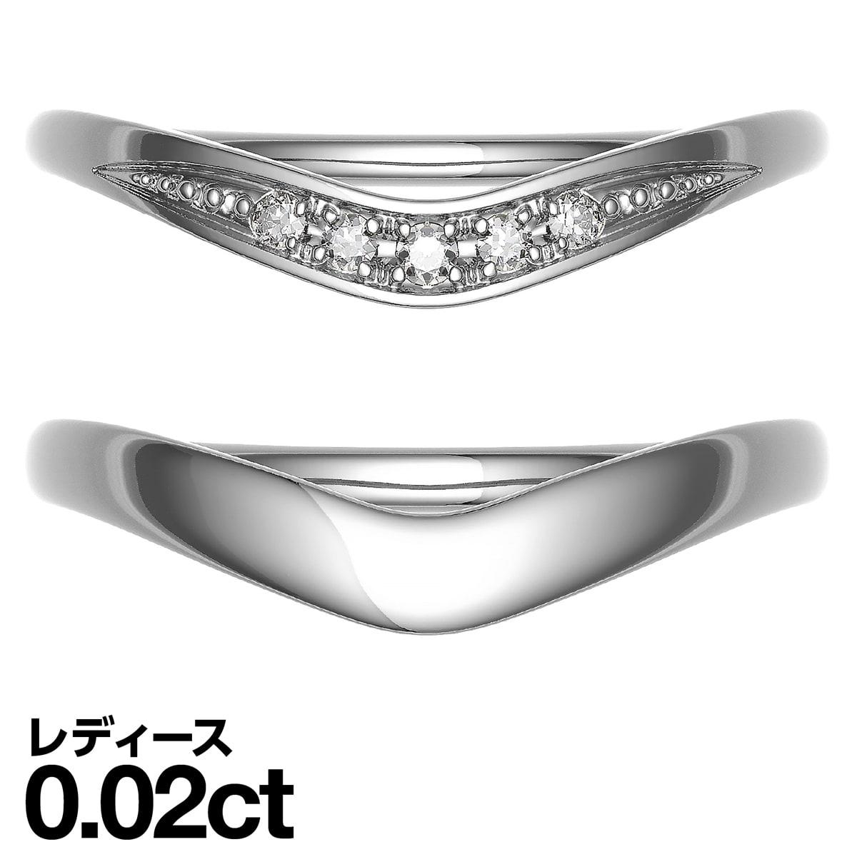 ペアリング k10 イエローゴールド/ホワイトゴールド/ピンクゴールド ダイヤモンド 2本セット 品質保証書 金属アレルギー 日本製 誕生日 ギフト