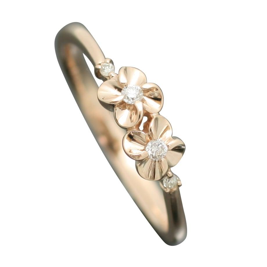 指輪 ピンクゴールド リング K10 ホワイトゴールド ピンクゴールド イエローゴールド 天然 ダイヤモンド 日本製【NEWショップ】【メール便発送のみ送料無料】 【指輪】【リング】【ダイヤモンド】母の日 プレゼント ギフト