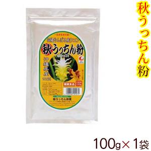クルクミンが多い沖縄産ウコンだけを使用 秋うっちん粉 100g×1個 最安値 倉 送料無料メール便 秋ウコン粉末