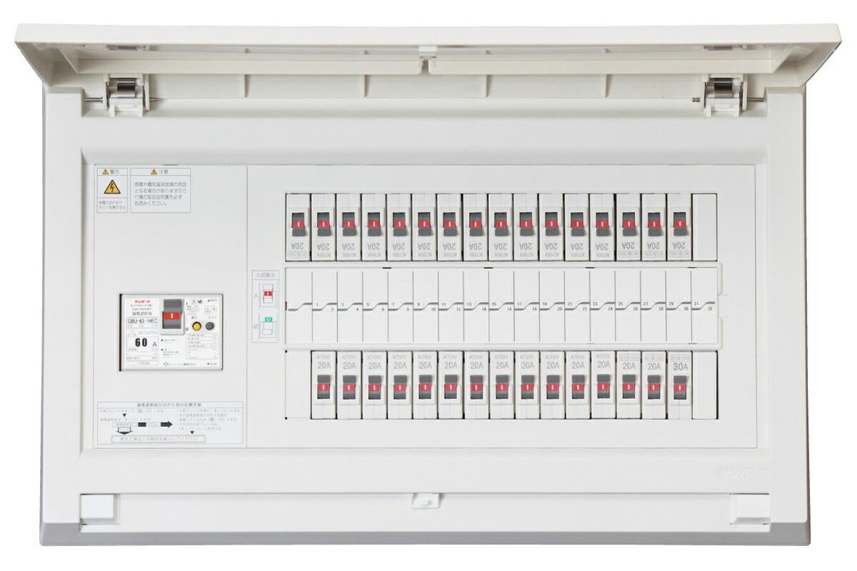 Tempearl テンパール MAG36302IC3 パールテクト MAG-IC3 住宅用分電盤 エコキュートまたは電気温水器 (端子台付) IHクッキングヒーター 蓄熱暖房器 (別系統)