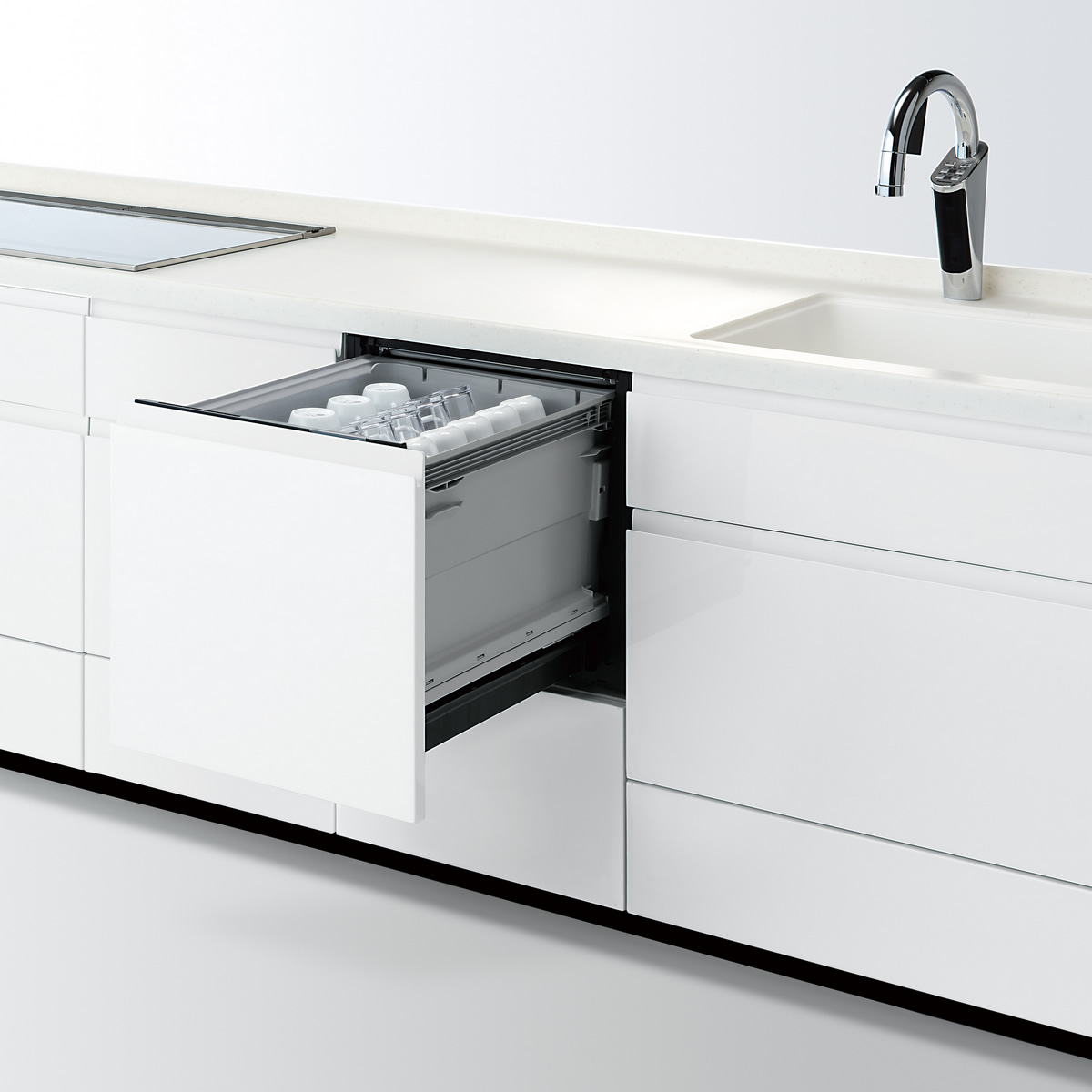 食器洗い乾燥機【NP-45KS8W】パナソニック ビルトインK8シリーズ 幅45cm ミドルタイプ ドアフル面材型