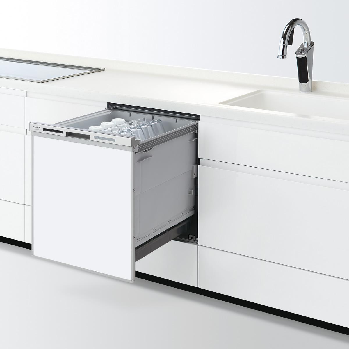 【NP-45MD8S】 パナソニック ビルトイン食器洗い乾燥機(食洗機) M8シリーズ 幅45cm ディープタイプ ドアパネル型 シルバー
