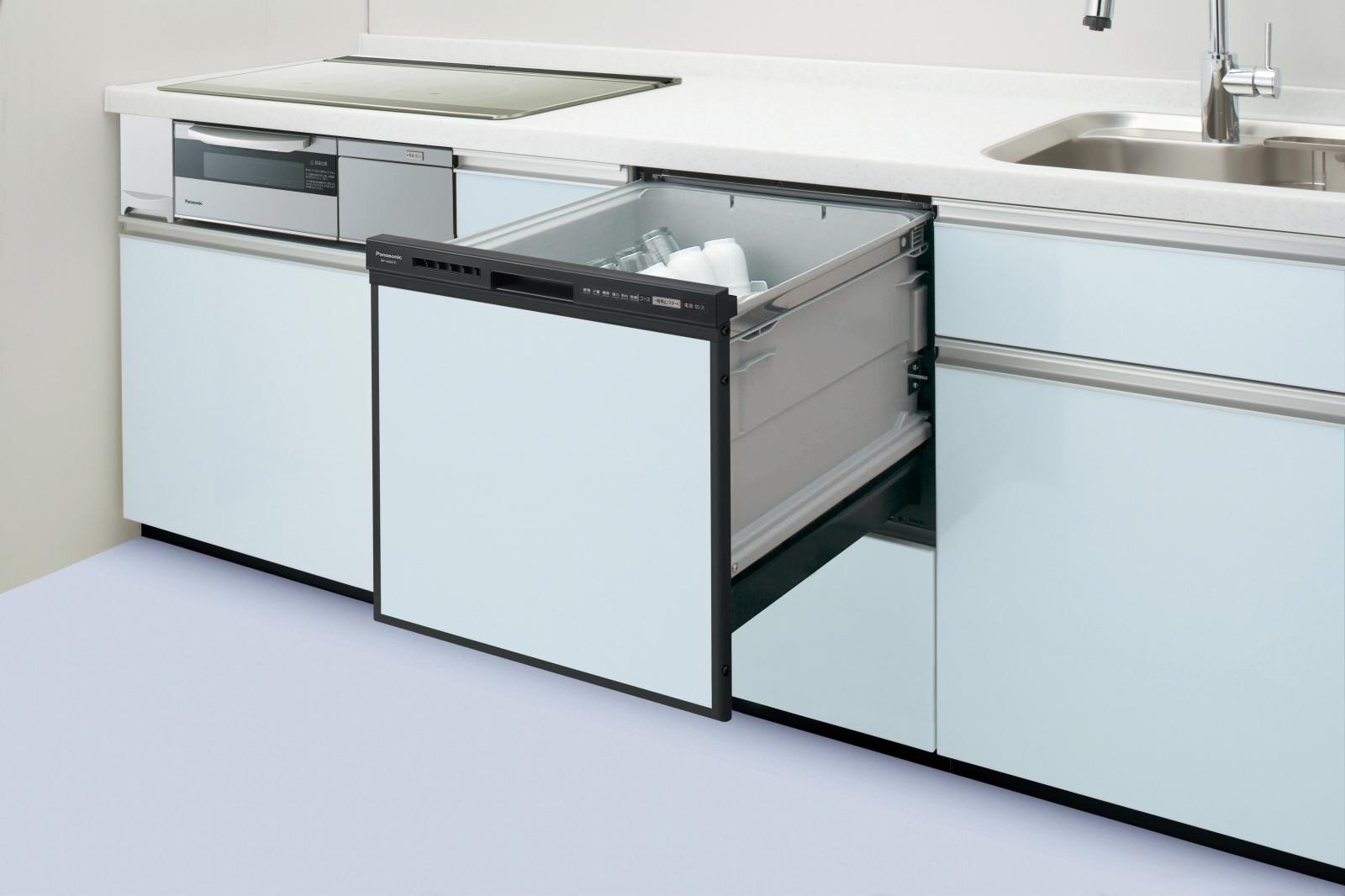 パナソニック・ビルトイン食器洗乾燥機(食洗機)【NP-45RS7K】幅45cm ミドルタイプ・ドアパネル型/ブラック【NP-45RS6Kの後継品】【延長保証5年間対象商品】