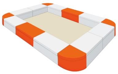 Combi ジョイントベンチシリーズ キッズコーナー レイアウト例 ラージサイズ1 2.7m×3.6m [9.7m2] コンビウィズ株式会社 [メーカー直送][代引不可]