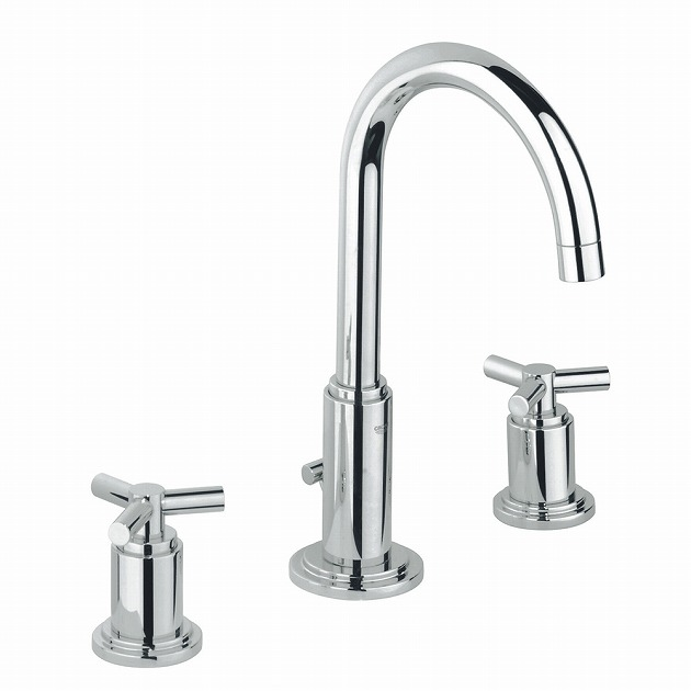 GROHE[グローエ] GROHE SPA COLLECTIONS 【20 008 00J】 アトリオ 2ハンドル洗面混合栓(引棒付) 【メーカー直送のみ・代引き不可】