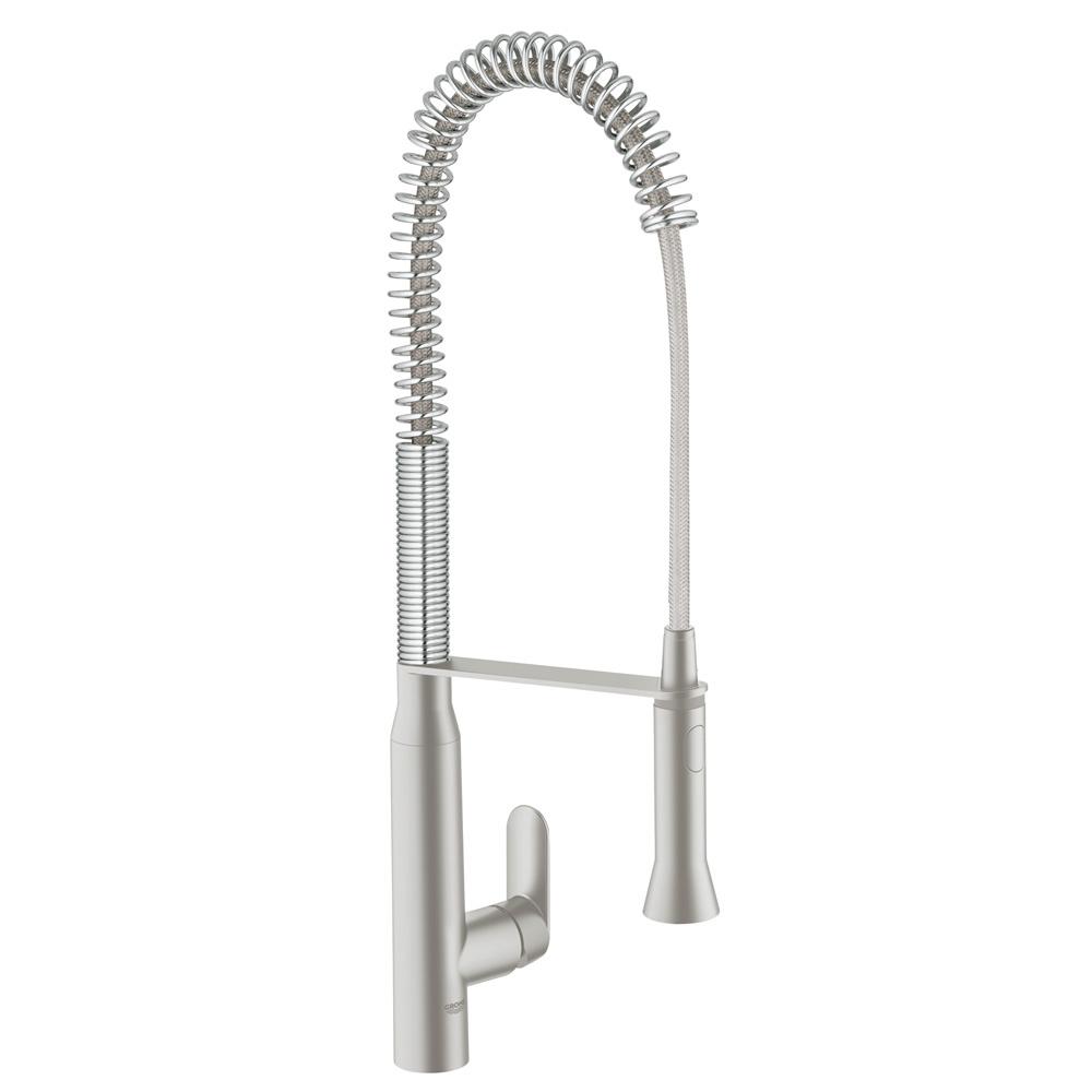 GROHE[グローエ] キッチン用水栓 【JP 3012 01】 K7 シングルレバーキッチン混合栓(スーパースチール) [メーカー直送][代引不可]