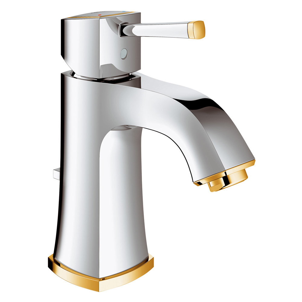 GROHE[グローエ] 洗面用水栓 【JP 3027 00】 グランデラ シングルレバー洗面混合栓(引棒付)(クローム×ゴールド) GROHE SPA COLLECTIONS [メーカー直送][代引不可]