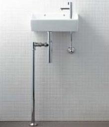 YL-A35HP 狭小手洗シリーズ 手洗タイプ [角形] [壁給水/床排水 (ボトルトラップ) ] [アクアセラミック] 手洗い器 セット 陶器