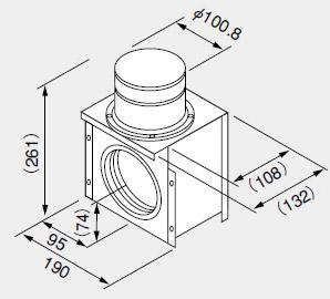 0700089 ノーリツ 給湯器 関連部材 排気延長部材 排気アダプターTB100