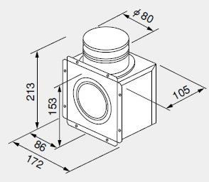 【0700561】ノーリツ 給湯器 関連部材 排気延長部材 排気アダプターTB81