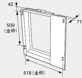 【0700672】ノーリツ 給湯器 関連部材 扉内設置ケース 扉内ケースTC-7C