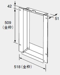 【0702466】ノーリツ 給湯器 関連部材 扉内設置ケース 扉内ケースTC-20
