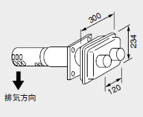 【0702906】ノーリツ 給湯器 関連部材 給排気トップ(2重管方式及び2本管方式) FF-3Aトップ φ80 2本管 400型