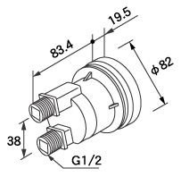 【0705093】ノーリツ 給湯器 関連部材 循環アダプターHX 循環アダプター HX-SF 20P (20個入)