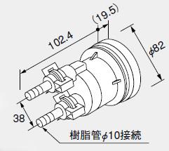 0705095 ノーリツ 給湯器 関連部材 PE管 (樹脂管) 対応部材 循環アダプターHX-JS 20P (20個入)